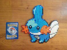 Mudkip Pokemon Perler Bead Sprite perler,hama,square pegboard,video games,nintendo,pokemon,
