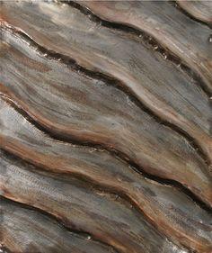 "Ed Wilson Waves  2016 hammered steel 17 1/2"" x 14 3/4"" x 1 1/2"""