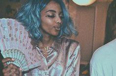 Baby Blue Hair, Bali Baby, Birthday Hair, Female Singers, Music Artists, Rapper, Dreadlocks, Ruffle Blouse, Celebs