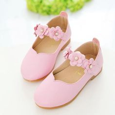 Children Shoes Girls 2016 Autumn Fashion Flower Kids Leather Shoes Solid All-match Casual Shoes Kids Insole 13.3-18.5cm 9179Z