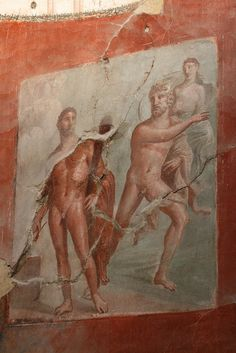 Ancient fresco #herculaneum #pompeii