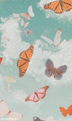 wallpaper one color wall murals Wallpaper Pastel, Butterfly Wallpaper Iphone, Cute Patterns Wallpaper, Iphone Background Wallpaper, Iphone Backgrounds, Screen Wallpaper, Iphone Wallpapers, Aztec Wallpaper, Pretty Wallpapers For Iphone