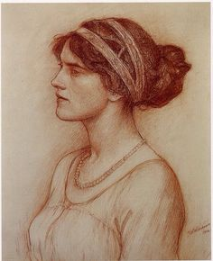Discover Study for the Portrait of the Marchioness of Downshire by British Pre-Raphaelite artist, John William Waterhouse. John William Waterhouse, Art And Illustration, Figure Drawing, Painting & Drawing, Drawing Sketches, Art Drawings, Academic Drawing, Instalation Art, Pierre Auguste Renoir