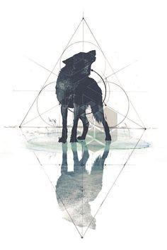 Geometric Wolf Canvas Artwork by 33 Broken Bones Wolf Artwork, Canvas Artwork, Canvas Prints, Wolf Tattoos, Tatoos, Wolf Spirit, Spirit Animal, Aquarell Wolf Tattoo, Geometric Wolf Tattoo