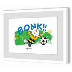 Marmont Hill Bonk! Peanuts Framed Art Print, Size: 36 inch x 24 inch, Multicolor