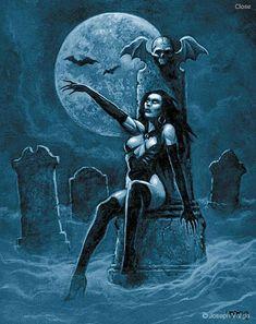 Vampires: Gothic Artwork by Joseph Vargo Gothic Artwork, Female Vampire, Vampire Art, Arte Horror, Horror Art, Comic Art Girls, Beautiful Dark Art, Vampires And Werewolves, Arte Obscura