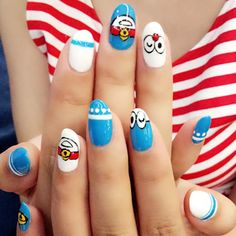 86 Best Nail Art With Characters Images On Pinterest In 2018