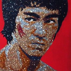 4d40ced0821d69 Bruce Lee - Enter The Dragon Glitter Art by Vanessa Robles