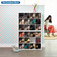 Our stackable 12-Pair Shoe Organizer is constructed from sturdy particleboard with a durable white paper laminate. Store shoes like loafers and low-heeled sandals in pairs in the individual compartments. Larger men's or athletic shoes are best stored with one shoe per opening. The organizer is also great for smaller purses and evening bags. Store Shoes, Entryway Organization, Shoe Organizer, Shoe Storage, Heeled Sandals, White Paper, Evening Bags, Shoe Rack, Larger