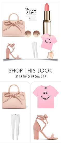 """Mostly Pink"" by ryan1 ❤ liked on Polyvore featuring Mansur Gavriel, Burberry, Raye and Chloé"