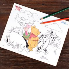 Winnie the Pooh Coloring Page | Printables | Disney Family.com