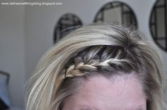 French Braid Bangs..i braid my bangs every day...but I can't master this...