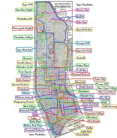 Manhattan Neighborhoods - Mapsof.net