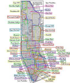 Manhattan Neighborhoods - Mapsof.net