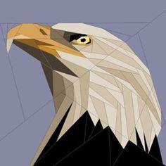 eagle quilt block paper piecing pattern