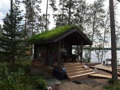 Rantasauna Maahinen, Honka Cabin, House Styles, Home Decor, Decoration Home, Room Decor, Cabins, Cottage, Home Interior Design, Wooden Houses