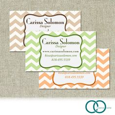 100 Calling Cards, Business Cards Chevron Design. $29.00, via Etsy.