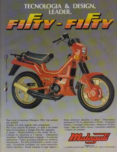"Version ""fifty"" of ""malaguti fifty"". Vintage Advertising Posters, Old Advertisements, Vintage Posters, Cafe Racer Honda, Cafe Racer Bikes, Vespa 200, Vintage Cars, Antique Cars, Moto Scooter"