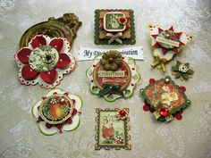 12 Days of Christmas Paper Ornaments Red by mydivineinspiration, $5.15