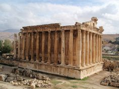 Temple of Bacchus in Baalbek in Lebanon. It is considered one of the best preserved Roman temples in the world. It is larger than the Parthenon in Greece, though much less famous.  Source: https://imgur.com/YHvhm2e