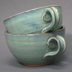 Sopa de Manipulados y Chowder Bowl, Juego de 2 Verde