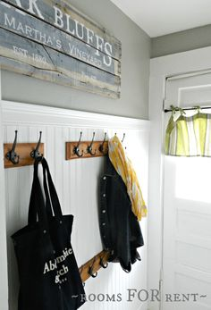 ~rooms FOR rent~: Hallway {Transformation} Mindful Gray Mindful Gray, Blogger Home, Rooms For Rent, New Room, House Rooms, Old Houses, Farm Houses, Beach Houses, Mudroom