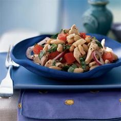 White bean and roasted chicken salad... healthy and filling