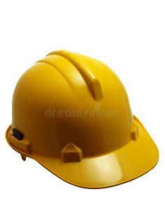 Photo about Yellow safety helmet isolated on white. Image of equipment, industrial, helmet - 4024840 Safety Helmet, Industrial, Stock Photos, Yellow, Image, Industrial Music