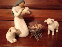 Make a twig manger for my Willow Tree nativity set.
