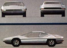 Ferrari Berlinetta Boxer (Pininfarina), Design sketch 1969