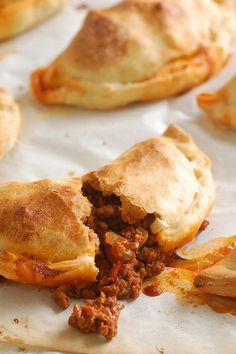 beef empanadas were easy to make and perfect for tapas night! (These make me excited to move to DC where great empanadas are easy to find! Mexican Dishes, Mexican Food Recipes, Beef Recipes, Cooking Recipes, Beef Empanadas, Empanadas Recipe, Mini Empanadas, Aperitivos Finger Food, Meat Recipes