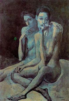 MI PINACOTECA: Expresionismo. PABLO PICASSO. Período azul (1901-1904)