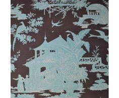 Quadrille Paradise Garden Fabric Remant