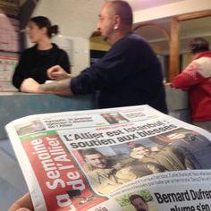 Aujourd'hui c'est rencontre des habitants du Mayet-de-Montagne avec les journalistes de La Semaine de l'Allier ! #journalisme #rencontres #proximité #reportage