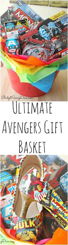 Avengers Gift Basket PLUS DIY Avengers High Heels #AvengersUnite   Budget Savvy Diva