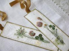 basteln lesezeichen getrocknete blumen serviette baender romantisch