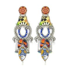 Ayala Bar Del Mar Earrings 110476 Spring 2014. Provincial in design and striking in character, Del Mar is beautifully crafted pottery under crystal.