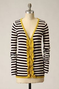 Black, White, and Yellow Striped Cardigan: from Anthropologie...what was I thinking not buying this??!!!