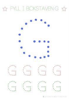 Lär dig skriva hela alfabetet med dessa färgglada bokstäver i färgerna röd, grön och blå – Lektionstips Swedish Language, Tracing Letters, Pre School, Montessori, Literacy, Kindergarten, Teaching, Education, Crafts