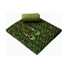 Jute Ikat Saree Sea-Green Color via Polyvore featuring home, home decor and ikat home decor