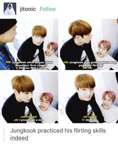 Cutie jungkook practicing his flirting