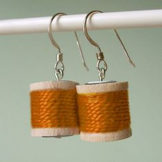 Spools of Thread Earrings by Made in Lowell | Hatch.co