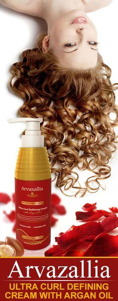 Save over Today on Arvazallia Ultra Curl Defining Cream with Argan Oil. Guaranteed to give you Soft, Bouncy, Frizz Free Curls or your Money Back. Wavy Curls, Tight Curls, Bouncy Curls, Curls Without Heat, Argan Oil Skin Benefits, Natural Looking Curls, Curly Hair Styles, Natural Hair Styles, Argan Oil Hair