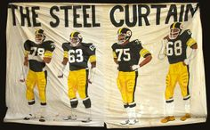 Dwight White, Ernie Holmes, Joe Greene, and L.C. Greenwood - only Mean Joe remains from the legendary Steel Curtain.