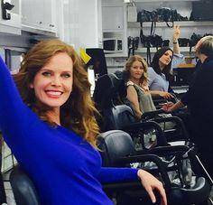 Jennifer Morrison: Lady zone! @bexmader @lparrilla @emiliede_ravin getting all dolled up. #onceuponatime #DarkSwan