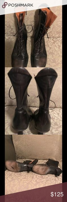 BOLO VERO CUOIO Italian Leather Ankle Boots 7.5 Beautiful all Leather Made in Italy Ankle Boots . Size 7.5 . Leather sole and heels , leather laces as well . Very comfortable with lots of cushion inside . Lace up with zippered opening inside by ankles . Gently worn Without blemish , In Excellent condition. See additional pics. ❌NO TRADES AND NO LOWBALL OFFERS❌ VERO CUOIO BOLO Shoes Ankle Boots & Booties