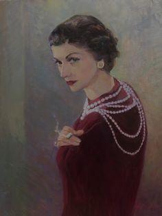Don Hatfield - portrait of Coco Chanel