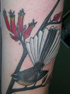 fantail tattoo Jack Tattoo, I Tattoo, Tattoo Inspiration, Hair Inspiration, Flax Flowers, Kiwiana, Natural Instinct, Tattoo Designs, Tattoo Ideas