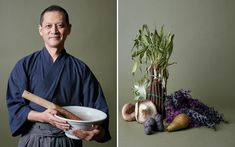 When I visit any country, the first thing I do is go to market to say hello to the vegetables,' says Japanese chef Toshio Tanahashi.