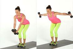 Femme faisant un exercice pour les bras avec des haltères